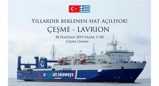 Lavrio-Cesme-ferry boat